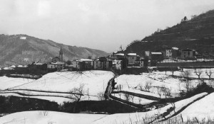 vista paese con neve
